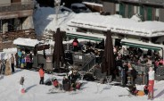 Terrasse ski Les Gets